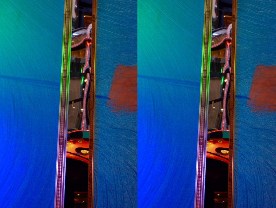 dubbele rode spiegelaccenten
